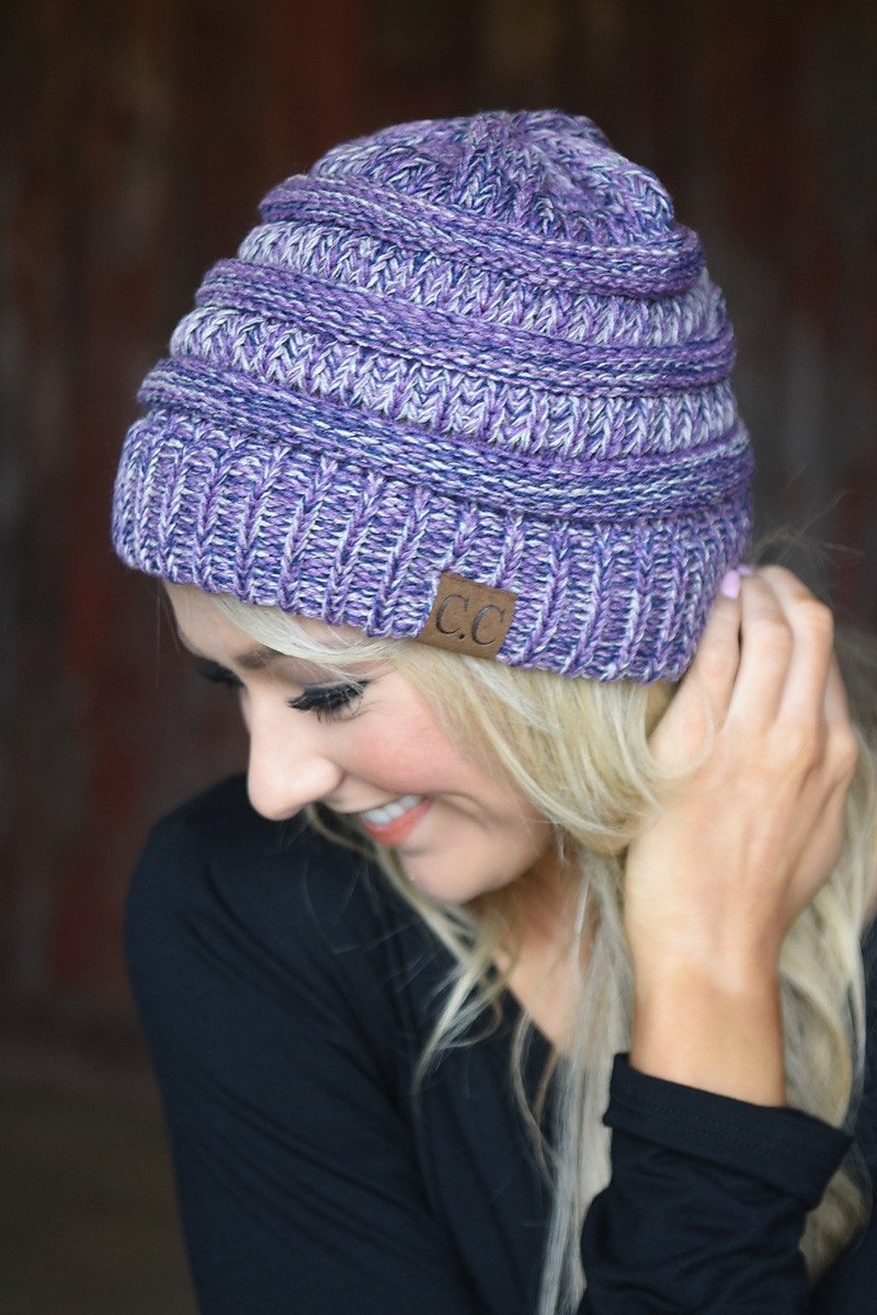 Purple Speckled Beanie