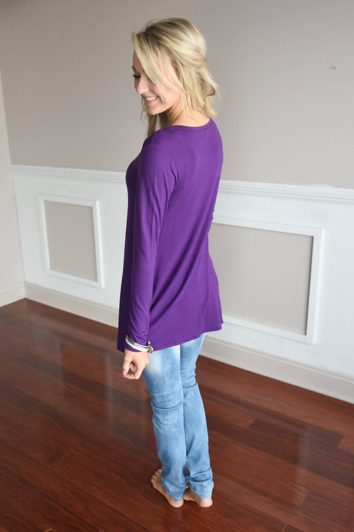 Purple Piko Top