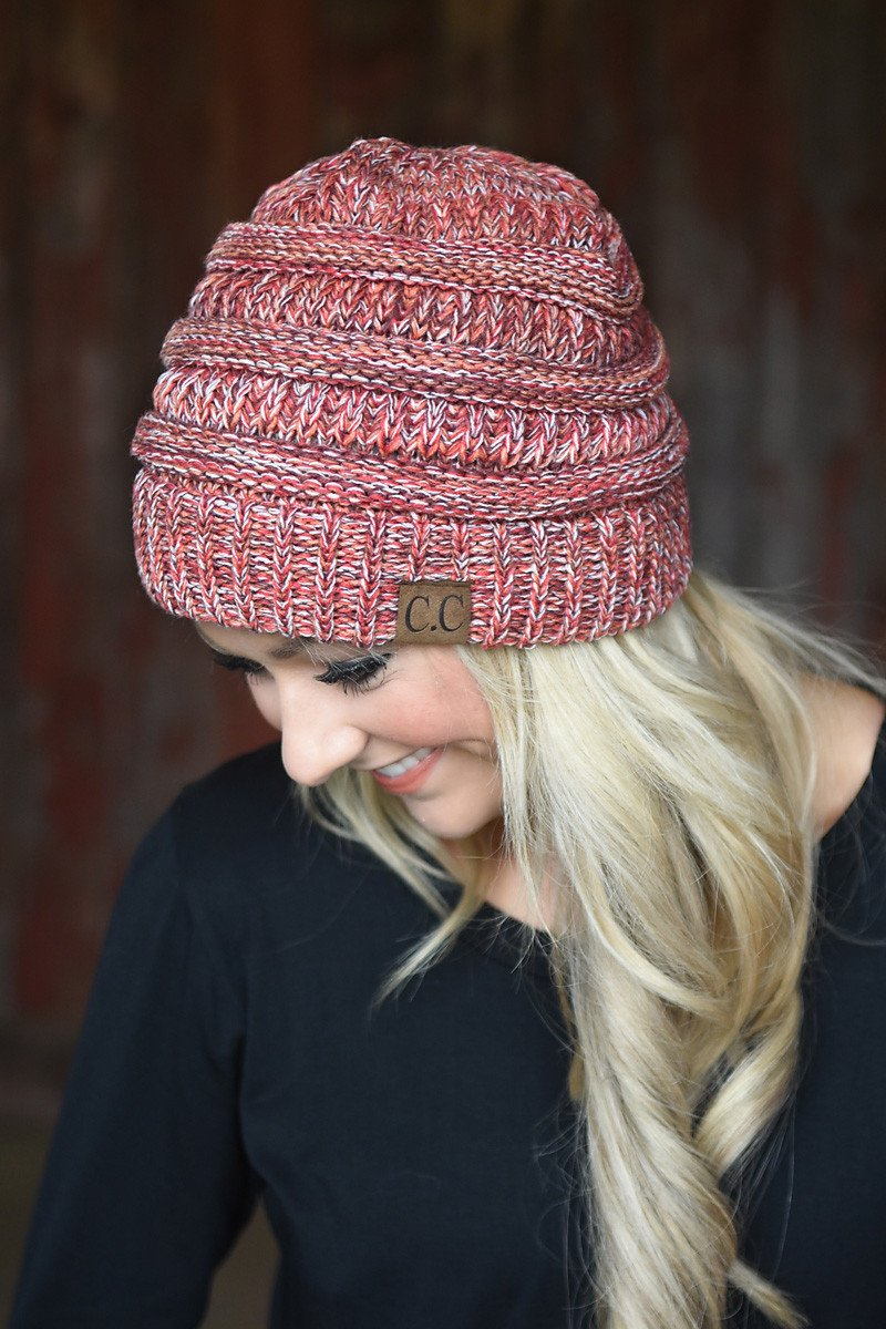 Red Speckled Beanie