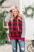 Every New Turn Buffalo Plaid Hoodie- Red & Black