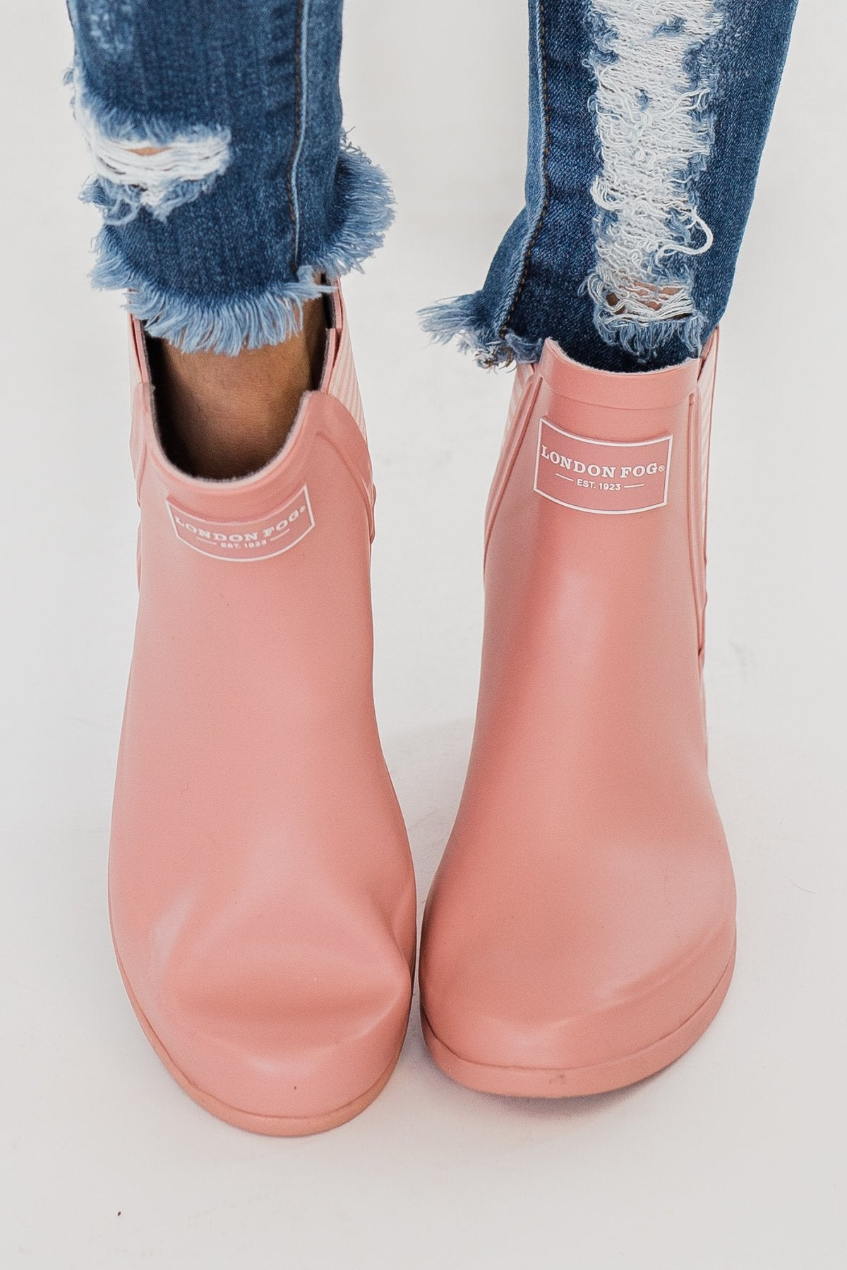 London Fog Piccadilly Rain Booties- Pale Pink