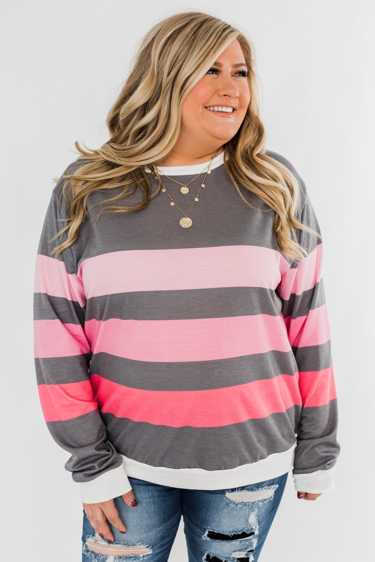 Pink Dreams Striped Top