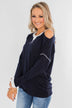 The Best Day Long Sleeve Top- Navy