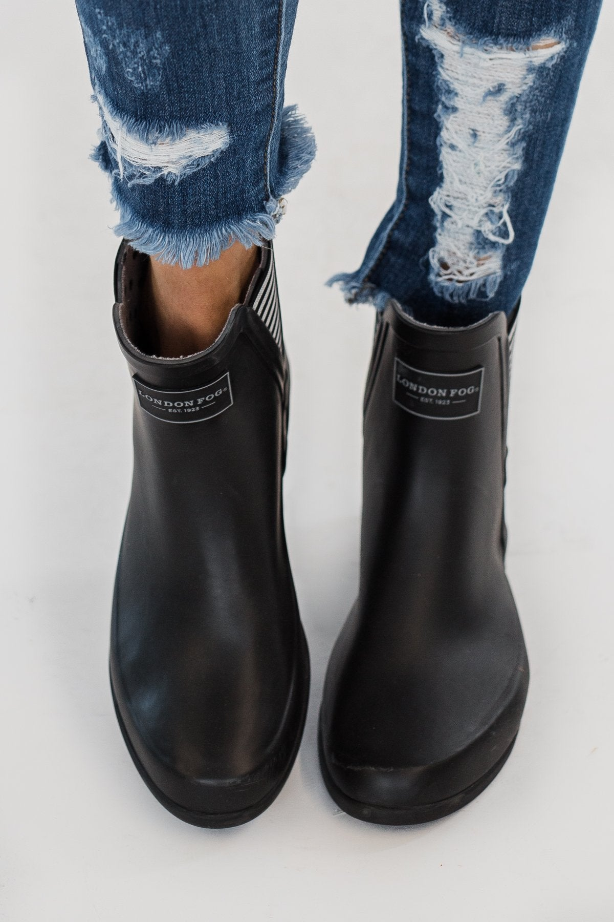 London Fog Piccadilly Rain Booties- Black