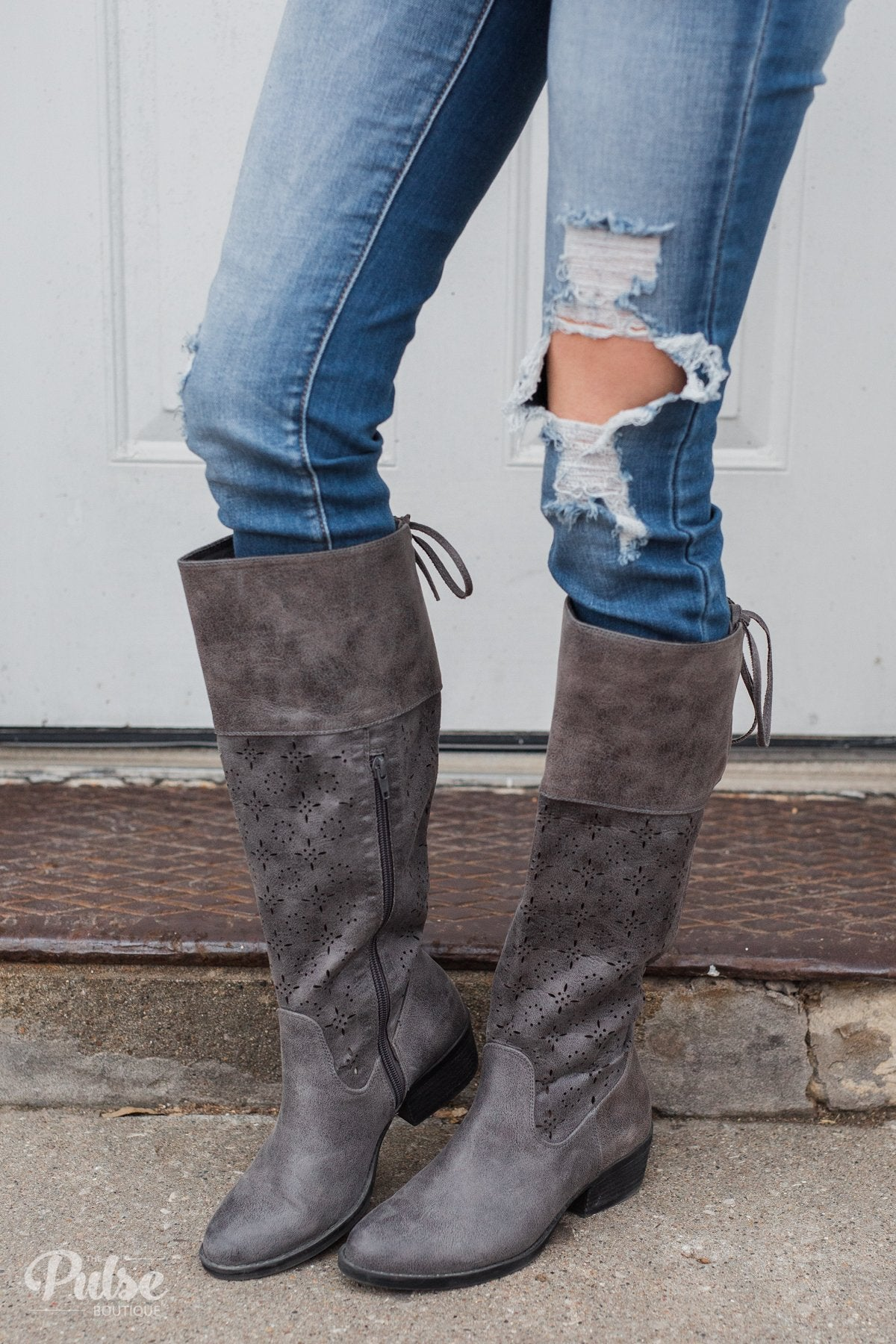 Not Rated Hermosa Boots- Charcoal