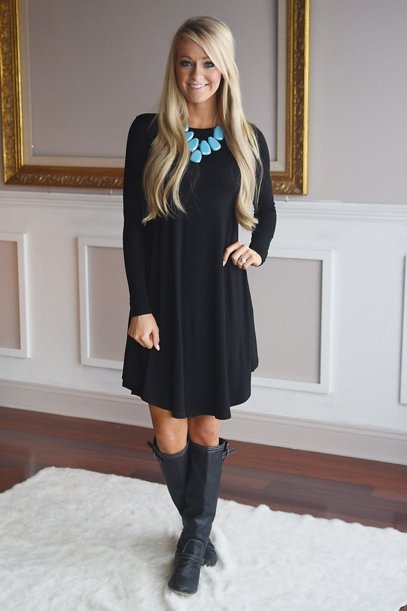 Simple Pleasures Dress ~ Black