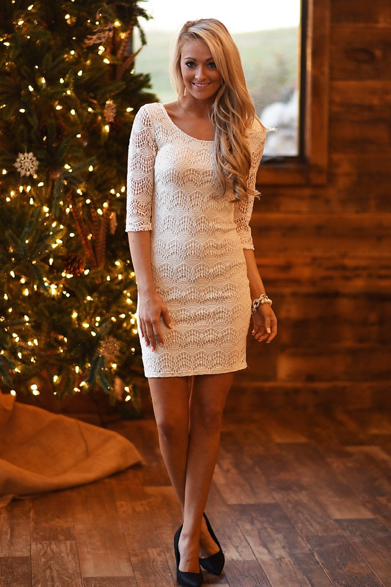 Sweet As Candy Lace Dress