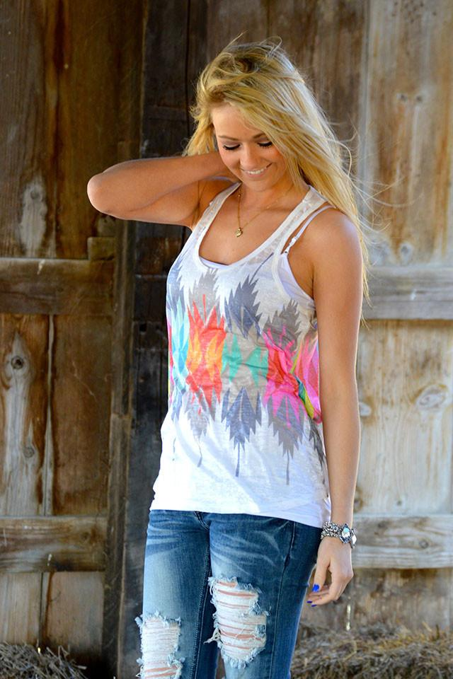 Swirls of Color Tank