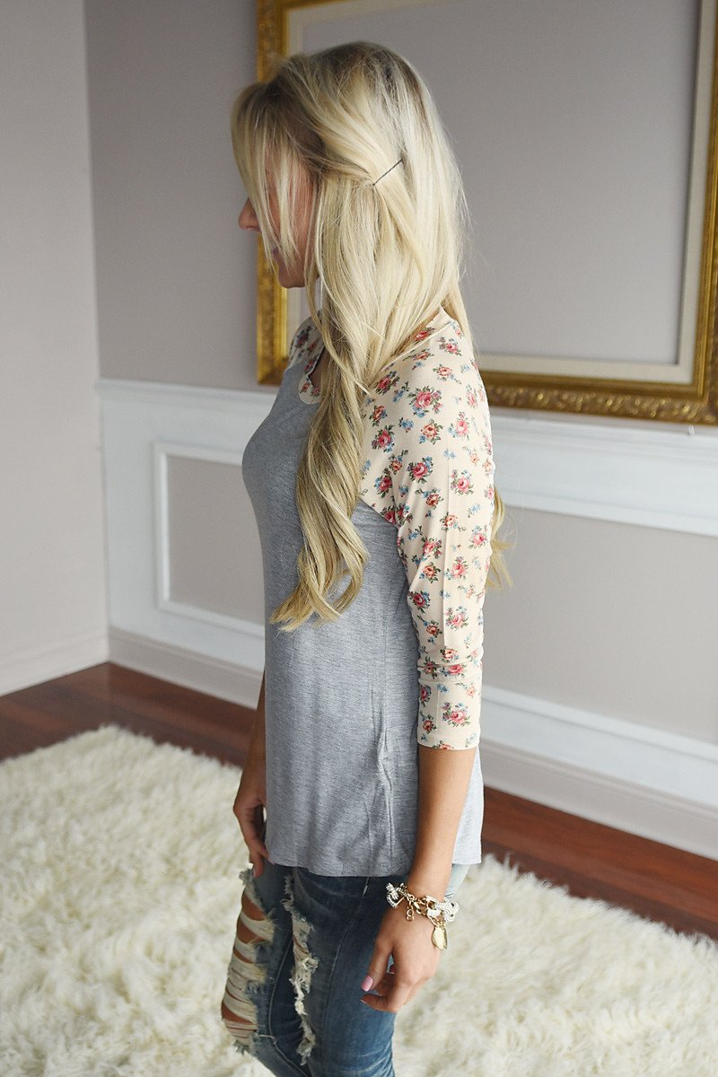 Warm Breeze Floral Top