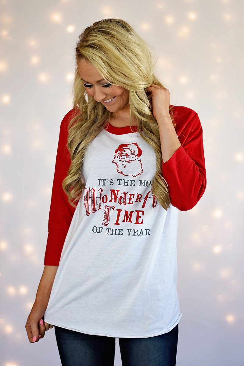 Wonderful Time Of The Year Baseball Tee