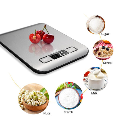 NuffBrands™ Portable Electronic Digital Kitchen Scale With Timer High Precision LED Display