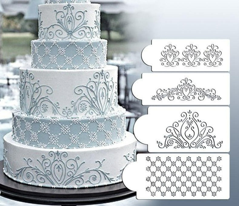 NuffBrands™  ArtPaste-Cake Decoration Stencil Set