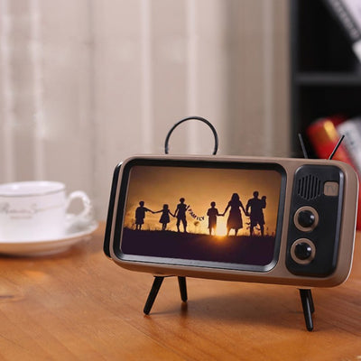 NuffBrands™ Retro TV Phone Holder