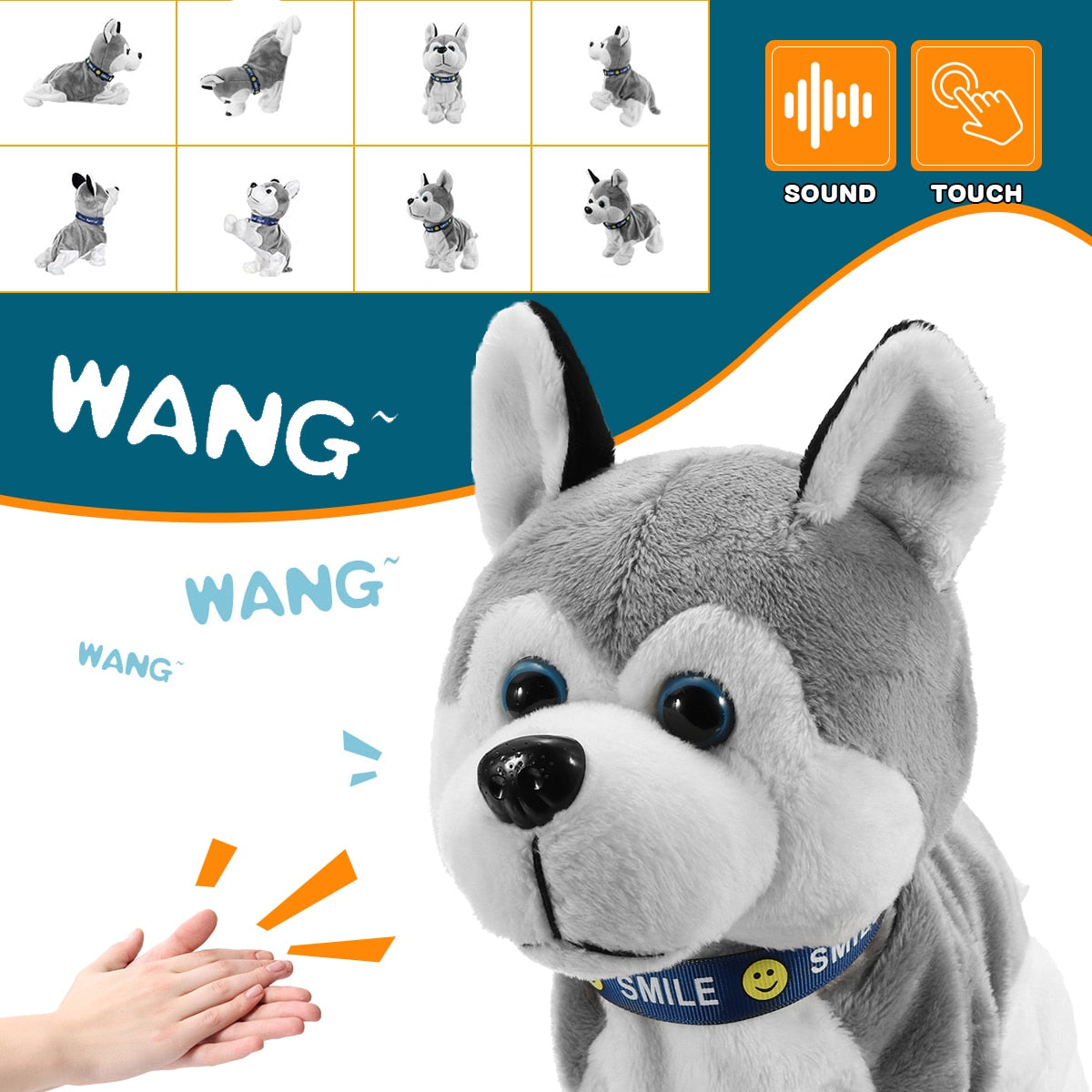 NuffBrands™ Electronic Robot Dog Sound Control/Interactive Bark