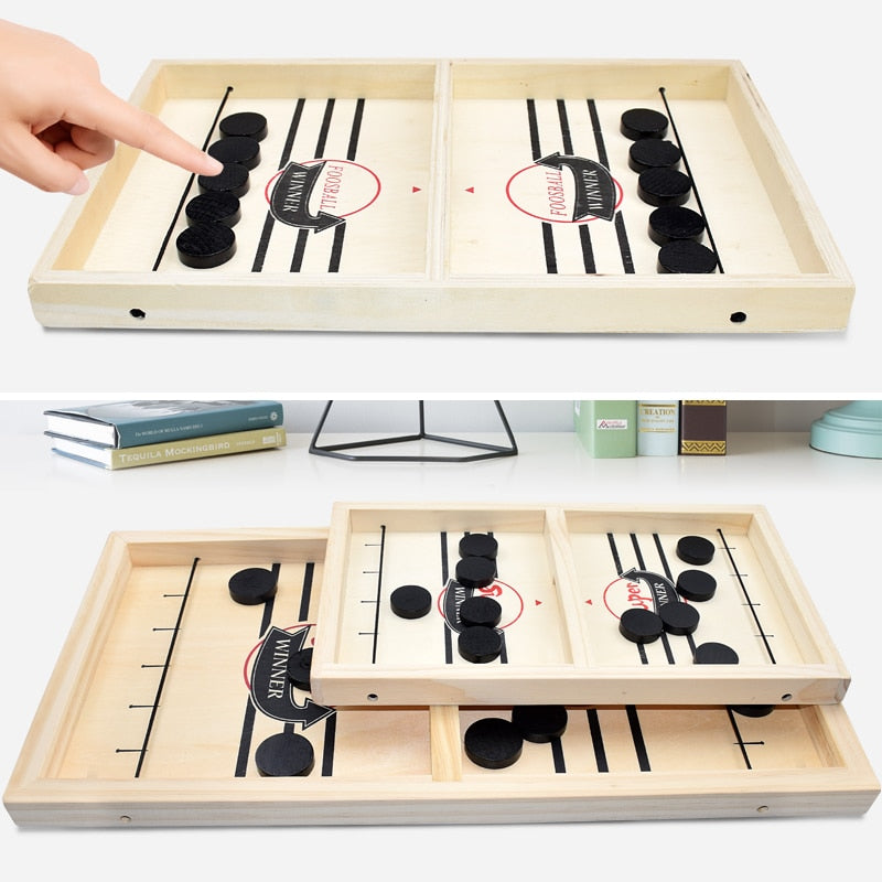 NuffBrands™ Wooden Hockey Game