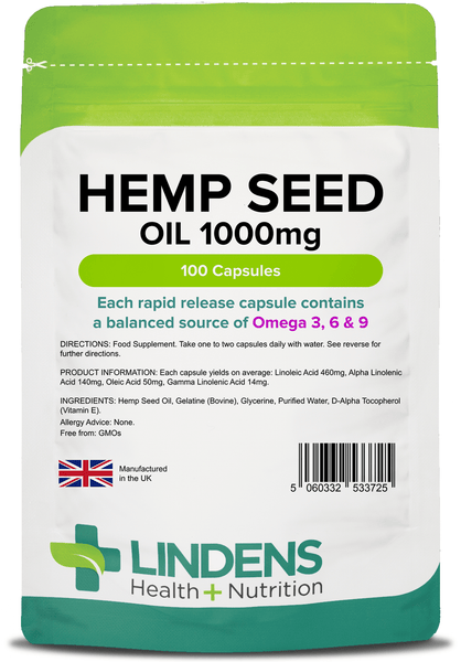 Hemp Seed Oil 1000mg Capsules (100 pack) - Authentic Vitamins