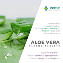 Aloe Vera 6000mg Tablets (90 pack) - Authentic Vitamins