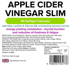 Apple Cider Vinegar Slim capsules (84 pack) - Authentic Vitamins