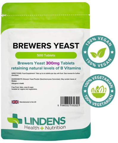 Brewers Yeast 300mg Tablets (500 pack) - Authentic Vitamins