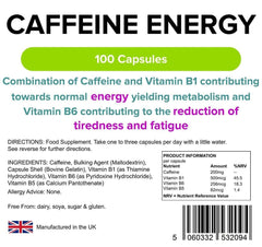 Caffeine Energy 200mg Capsules (100 pack) - Authentic Vitamins