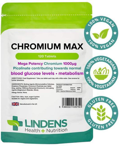 Chromium Max 1000mcg tablets (120 pack) - Authentic Vitamins