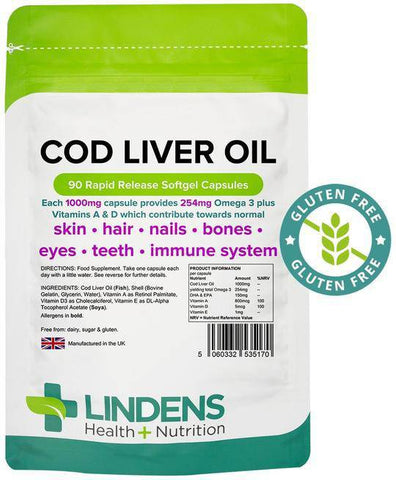 Cod Liver Oil 1000mg Capsules (90 pack) - Authentic Vitamins