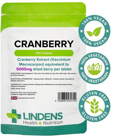 Cranberry Juice 5000mg tablets (100 pack) - Authentic Vitamins