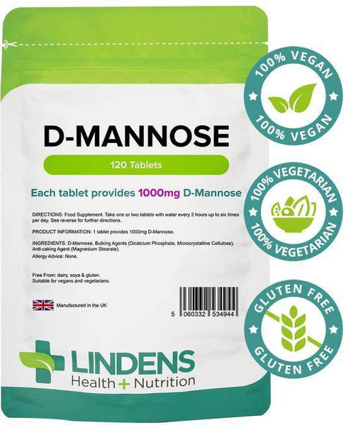 D-Mannose 1000mg Tablets (120 pack) - Authentic Vitamins