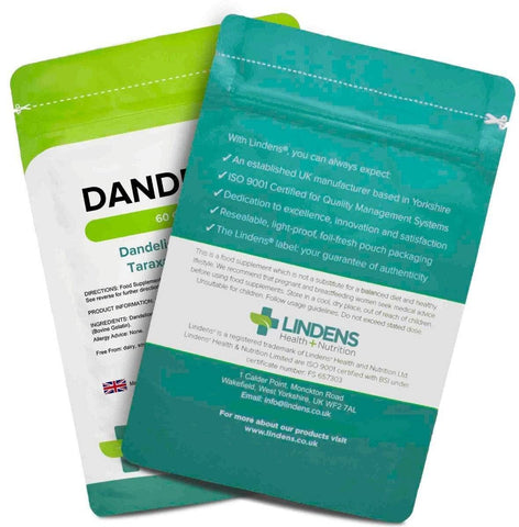 Dandelion 250mg Capsules (60 pack) - Authentic Vitamins
