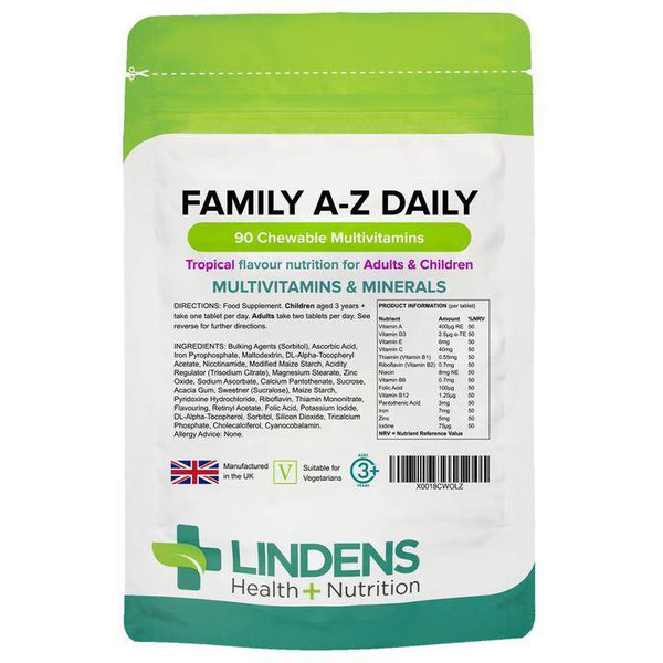 Family A-Z Daily Multivitamin Chewable Tablets 90 Pack - Authentic Vitamins