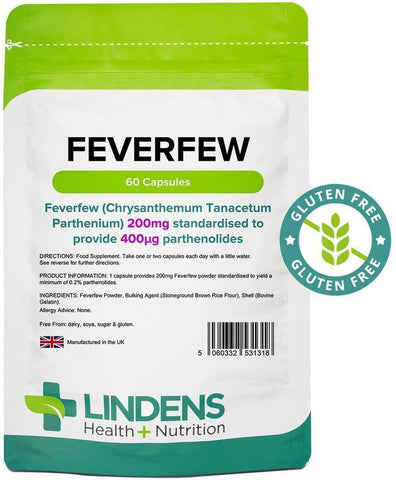 Feverfew 200mg Capsules (60 pack) - Authentic Vitamins