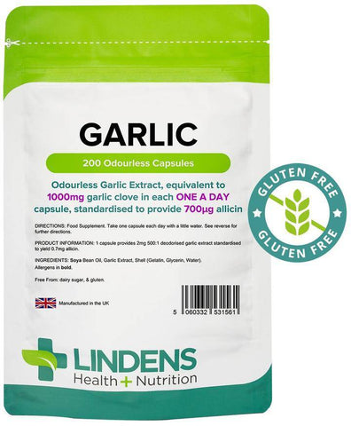 Garlic 1000mg Odourless Capsules (200 pack) - Authentic Vitamins
