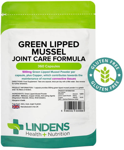 Green Lipped Mussel 500mg Capsules (360 pack) - Authentic Vitamins