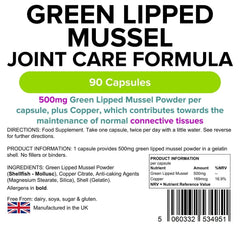 Green Lipped Mussel 500mg Capsules (90 pack) - Authentic Vitamins