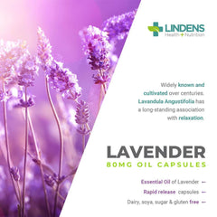 Lavender Essential Oil 80mg 60 Capsules - Authentic Vitamins