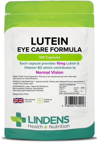 Lutein 10mg (Marigold Extract) Capsules (100 pack) - Authentic Vitamins