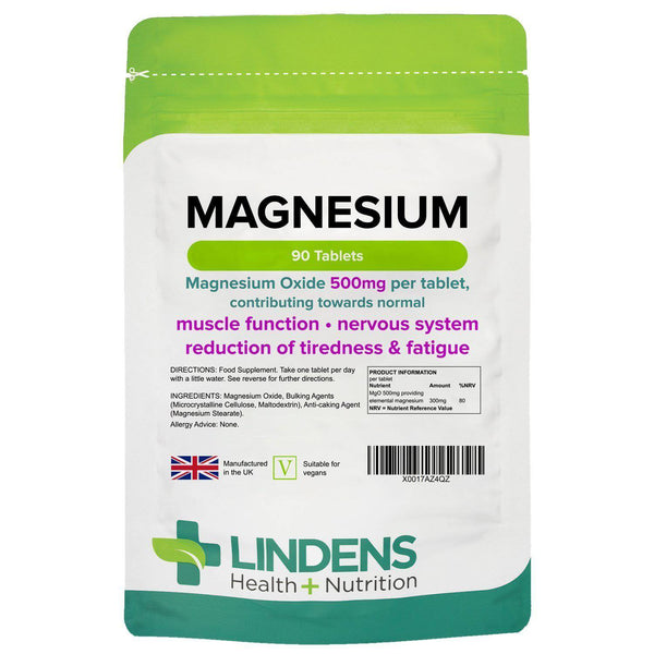 Magnesium Tablets (MgO 500mg) (90 pack) - Authentic Vitamins