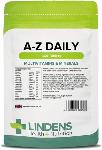 Multivitamin A to Z Daily Tablets (360 pack) - Authentic Vitamins