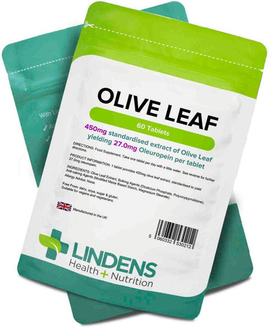 Olive Leaf (27mg oleuropein) Tablets (60 pack) - Authentic Vitamins