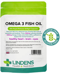 Omega 3 Fish Oil (30% DHA-EPA) 1000mg capsules (360 pack) - Authentic Vitamins
