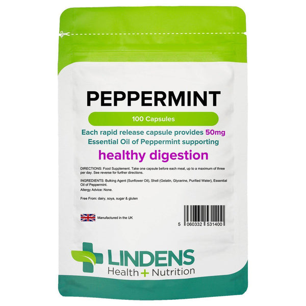 Peppermint Oil 50mg Capsules (100 pack) - Authentic Vitamins