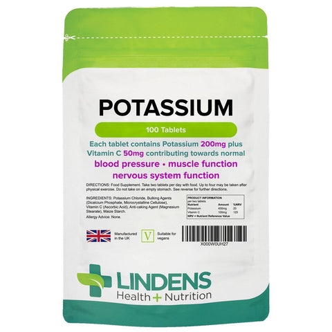 Potassium 200mg Tablets (100 pack) - Authentic Vitamins