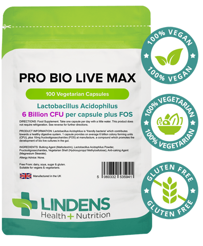 Pro Bio Live Max 6 Billion CFU 100 Veg Capsules - Authentic Vitamins