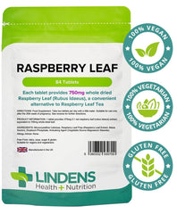 Raspberry Leaf 750mg Tablets (84 pack) - Authentic Vitamins