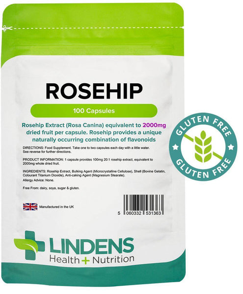 Rosehip 2000mg Capsules (100 pack) - Authentic Vitamins