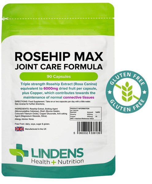Rosehip Max 90 Joint Formula Capsules 6000mg - Authentic Vitamins