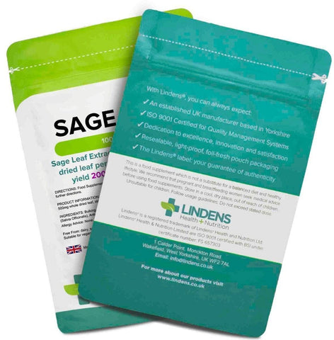Sage (Sage Leaf 500mg) Tablets (100 pack) - Authentic Vitamins