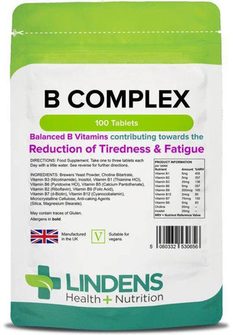 Vitamin B Complex Tablets (100 pack) - Authentic Vitamins