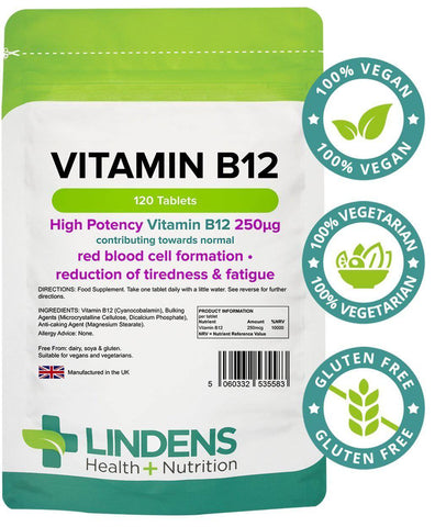 Vitamin B12 250mcg Tablets (120 pack) - Authentic Vitamins