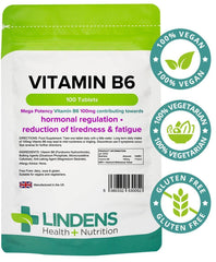 Vitamin B6 100mg Tablets (100 pack) - Authentic Vitamins